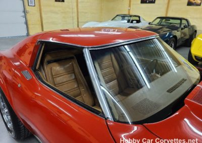 1975 Red Corvette Stingray Saddle Interior