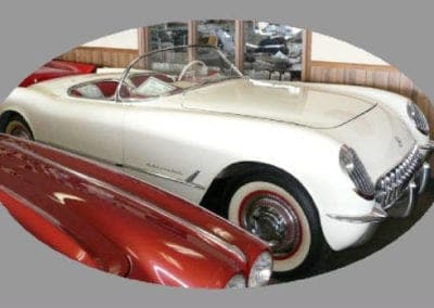 1954 Polo White Corvette Convertible Blue Flame Six