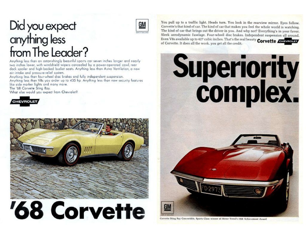 1968 C3 Red and Yellow Corvettes