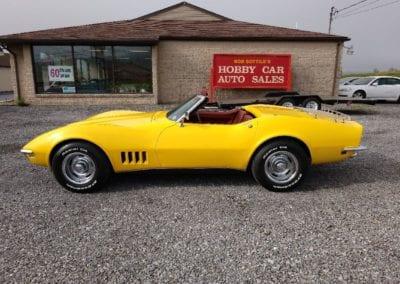 1968 Yellow Corvette Convertible Stingray For Sale