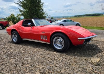 1969 Red Corvette T Top For Sale