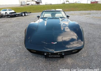 1979 Black Corvette T Top Oyster Leather Interior