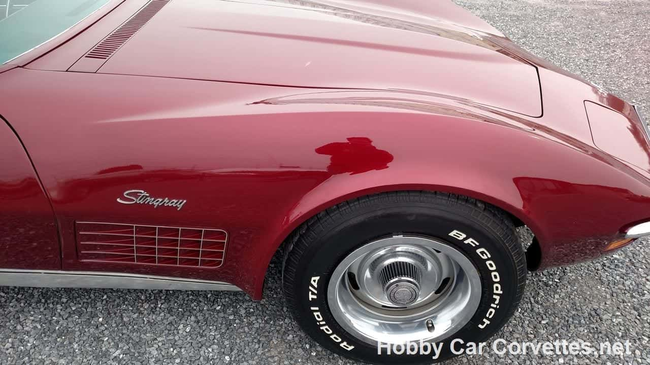 1971 Dark Red Corvette Convertible Four Speed Manual For Sale