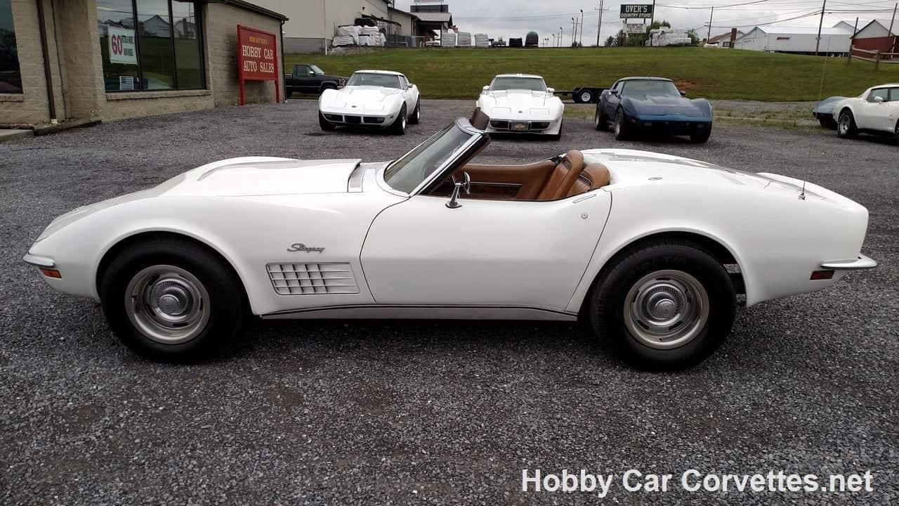 1971 White Corvette Stingray Convertible
