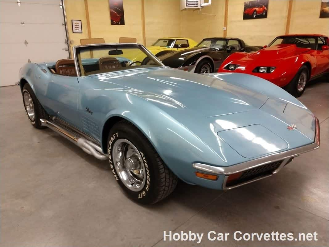 1972 Blue Corvette Convertible Four Speed Manual For Sale