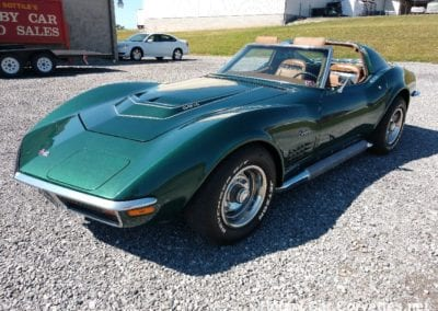 1972 Green Corvette LT1 For Sale