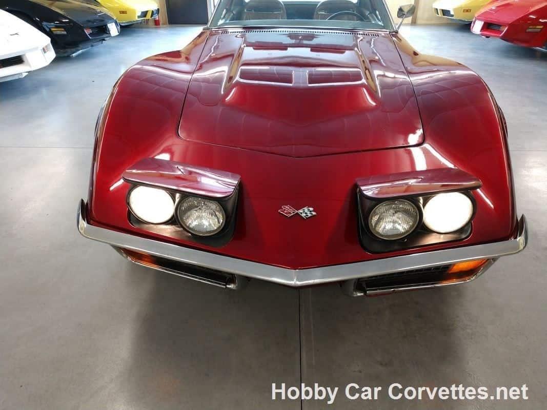 1972 Dark Red Corvette Manual Transmission For Sale