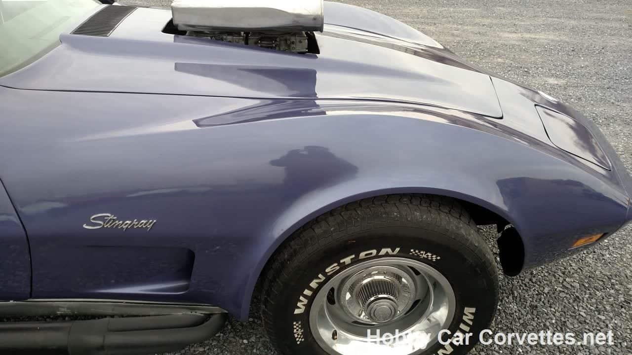 1973 Purple Corvette T Top Stingray Hot Rod For Sale