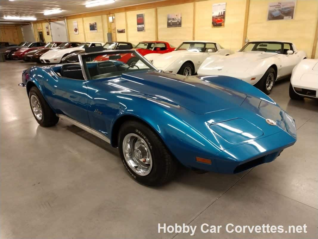 1973 Medium Blue Corvette Stingray Convertible
