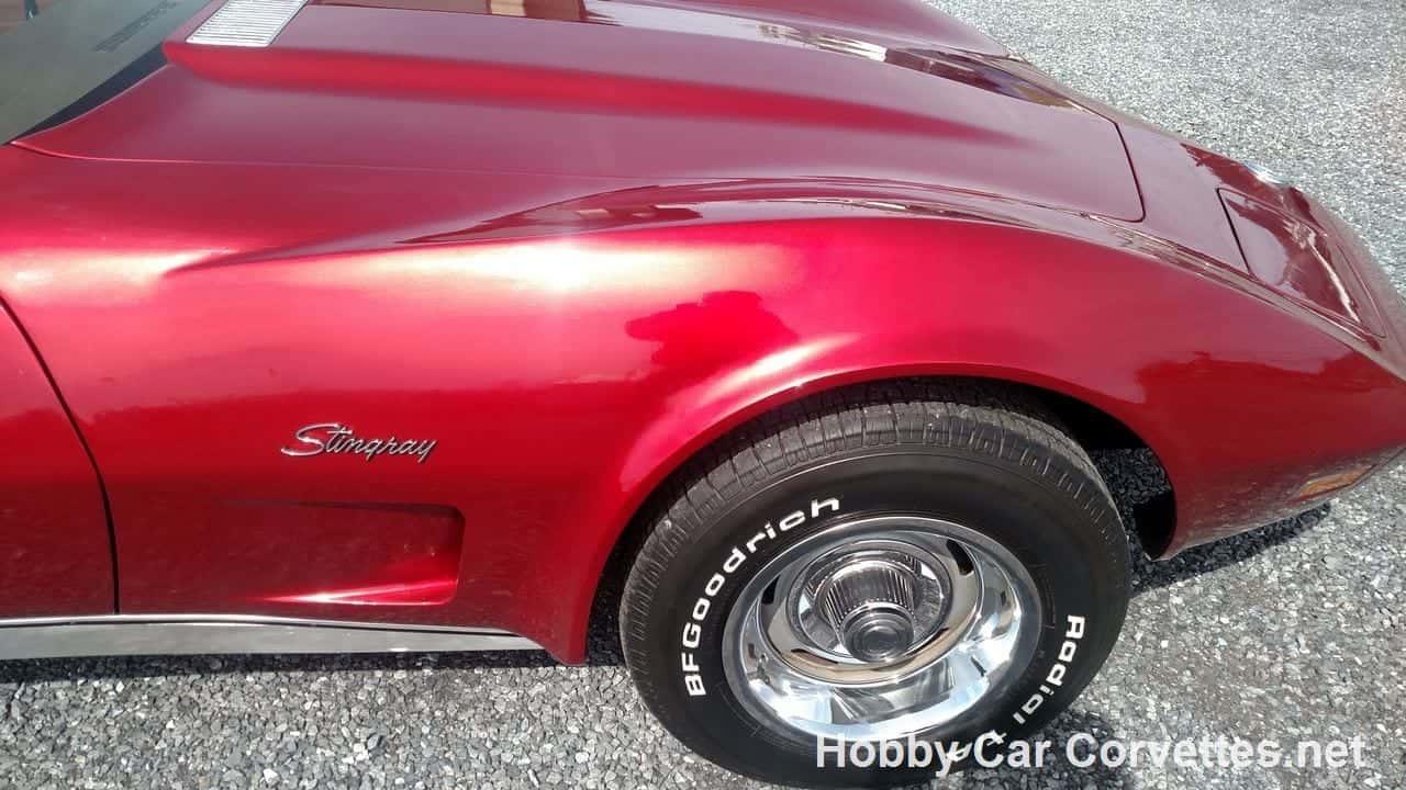 1973 Dark Red Corvette Stingray For Sale