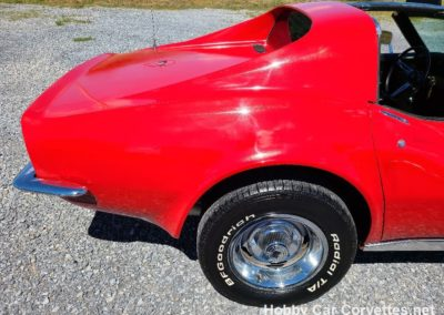 1973 Red Corvette Black Interior For Sale