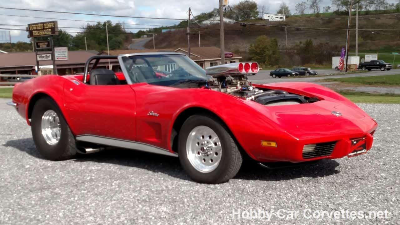 1973 Mille Miglia Red Corvette Convertible Pro Street