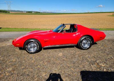 1974 Red Corvette Big Block Stingray T Top For Sale