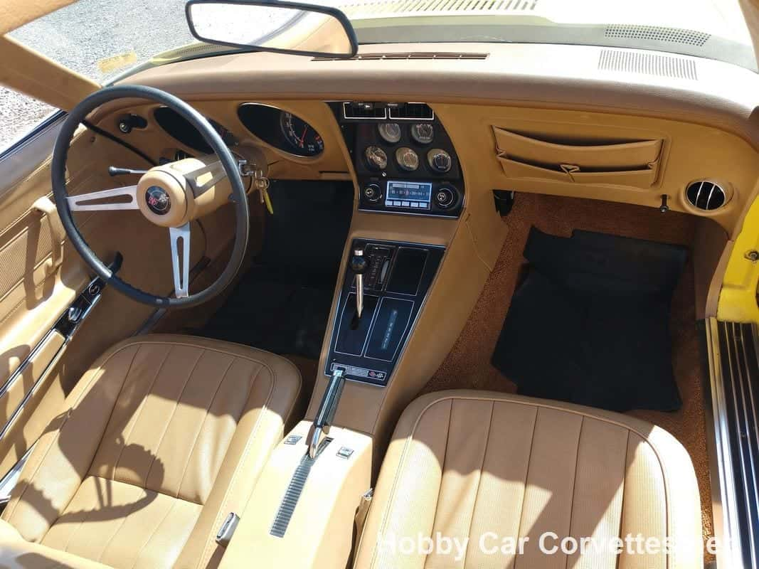 1974 Bright Yellow Corvette Saddle Int 17K Miles