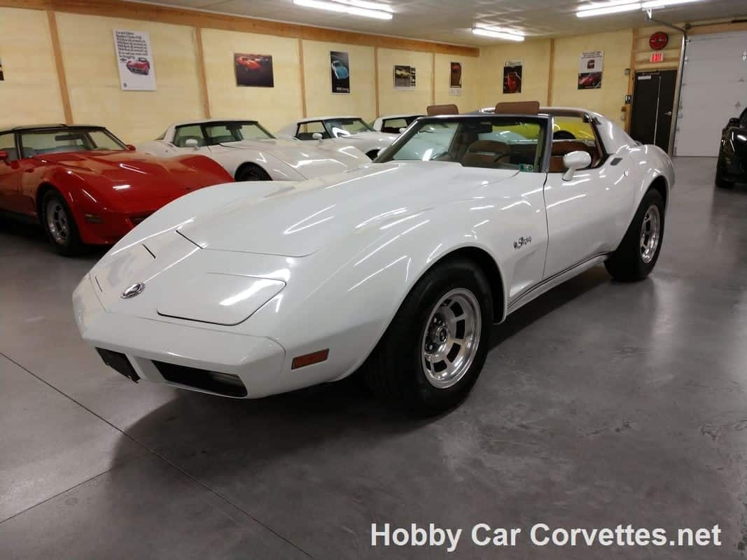 1974 Classic White Corvette Stingray T Top