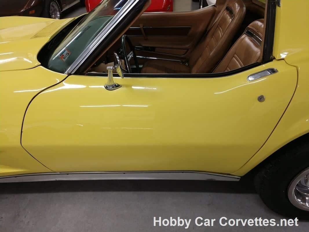 1974 Bright Yellow Corvette Automatic Saddle Interior For Sale