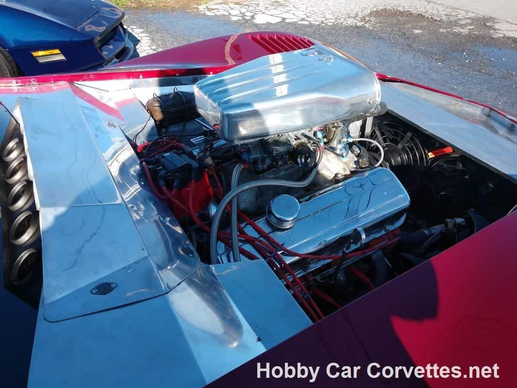 1975 Dark Red Corvette L82 Big Block Pro Street Vette Barn Drag Car