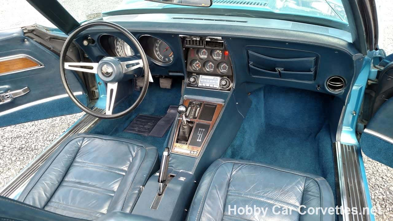 1975 Bright Blue Corvette Convertible Stingray For Sale