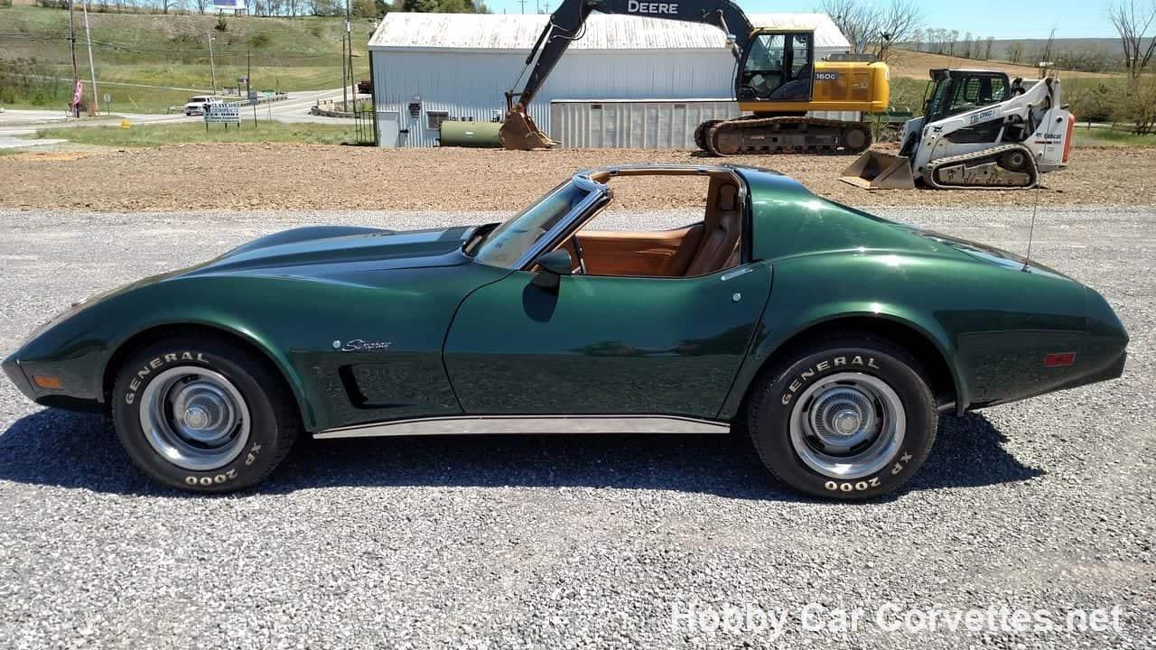 1975 Dark Green Corvette Stingray 4spd T Top