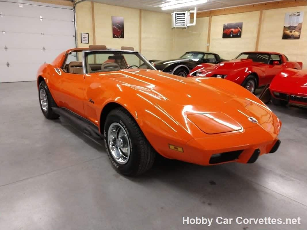 1975 Orange Flame Corvette Stingray For Sale