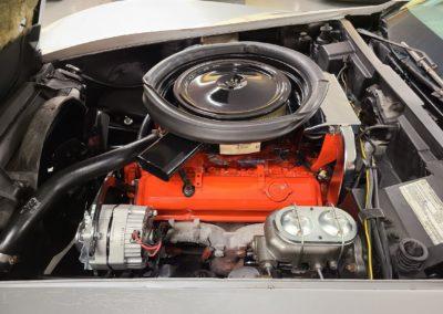 1975 Silver Corvette Convertible Stingray For Sale