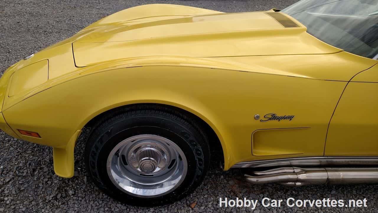 1975 Bright Yellow Corvette