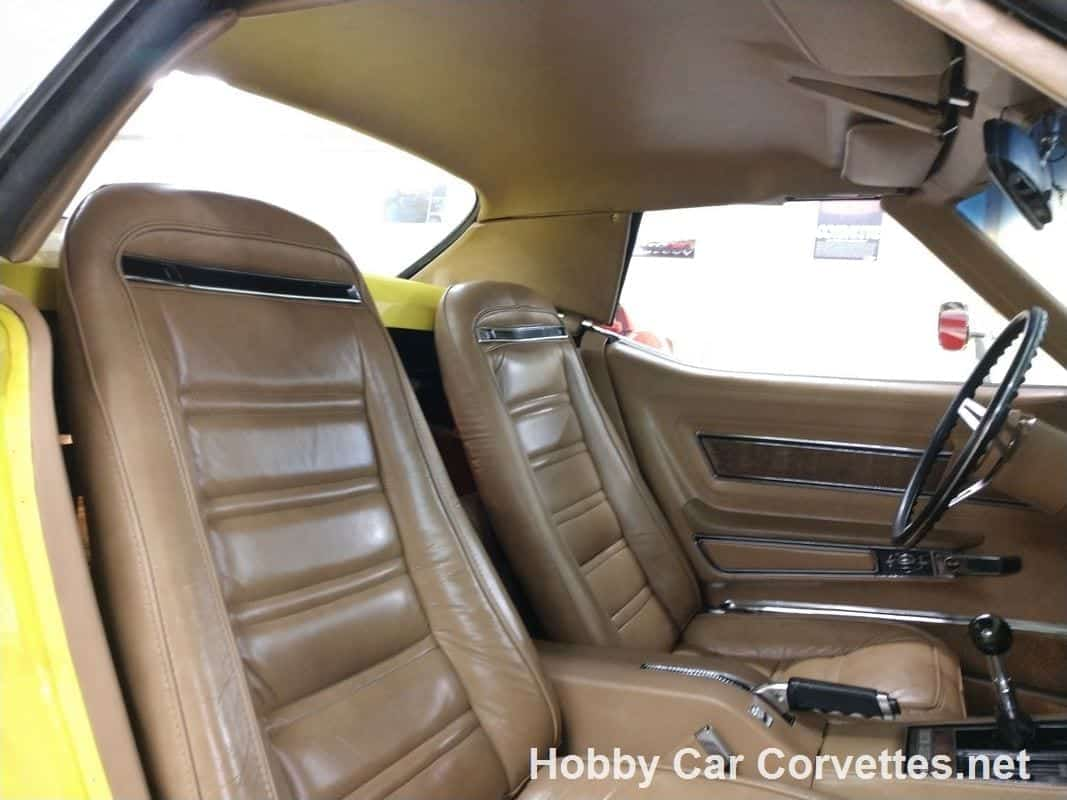 1975 Bright Yellow Corvette Convertible Four Speed For Sale
