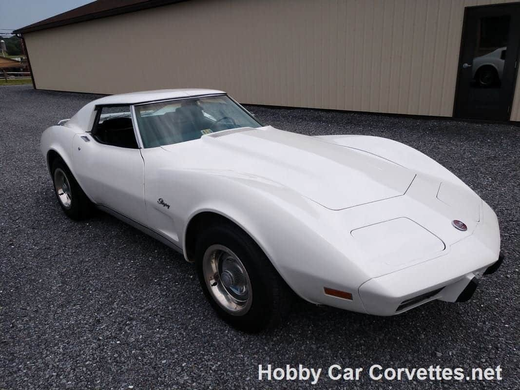 1975 White Corvette Stingray T Top