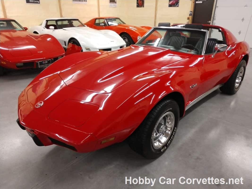 1976 Red Corvette Stingray Automatic Hot Rod For Sale