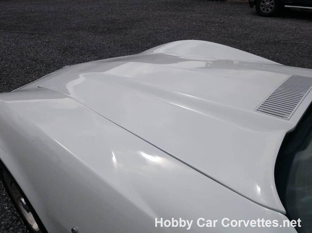 1976 White Corvette Stingray T Top Hot Rod