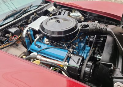 1977 Dark Red Corvette Black int For Sale