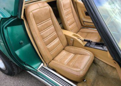 1977 Green Corvette Saddle Interior For Sale