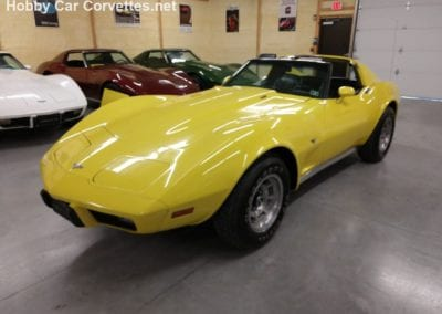 Survivor 1977 Bright Yellow L82 4spd Corvette T Top
