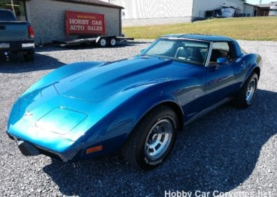 1979 Bright Blue Corvette