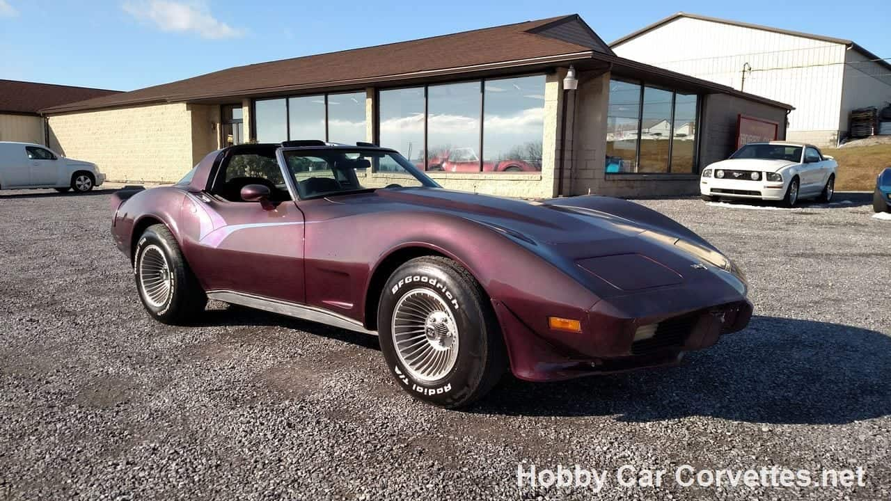 1979 Black Cherry Corvette T Top For Sale