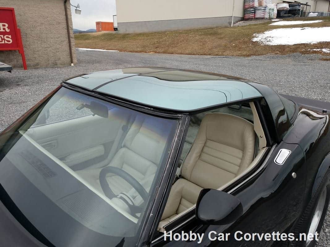 1980 Black Corvette OYSTER INTERIOR T TOP