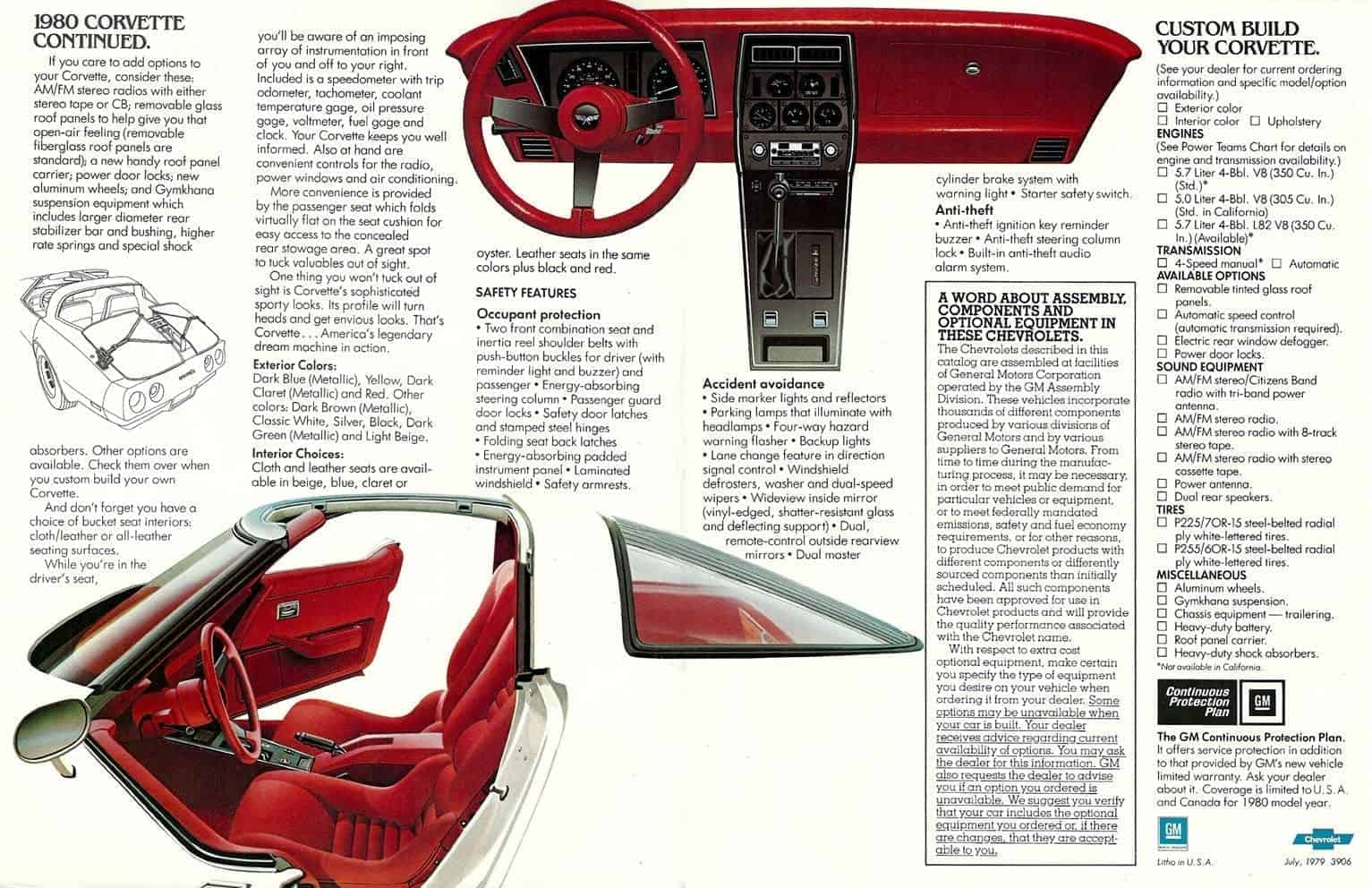 1980 chevrolet corvette original ad