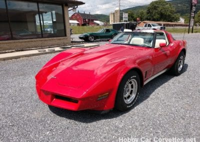 1980 Red Corvette T-Top