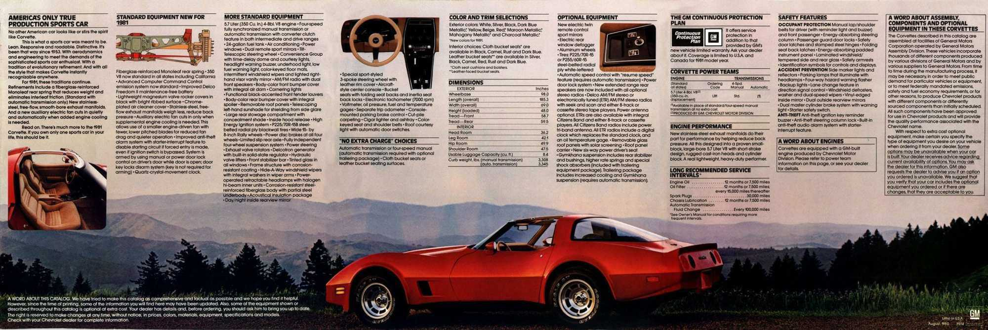 1981 Chevrolet Corvette Options