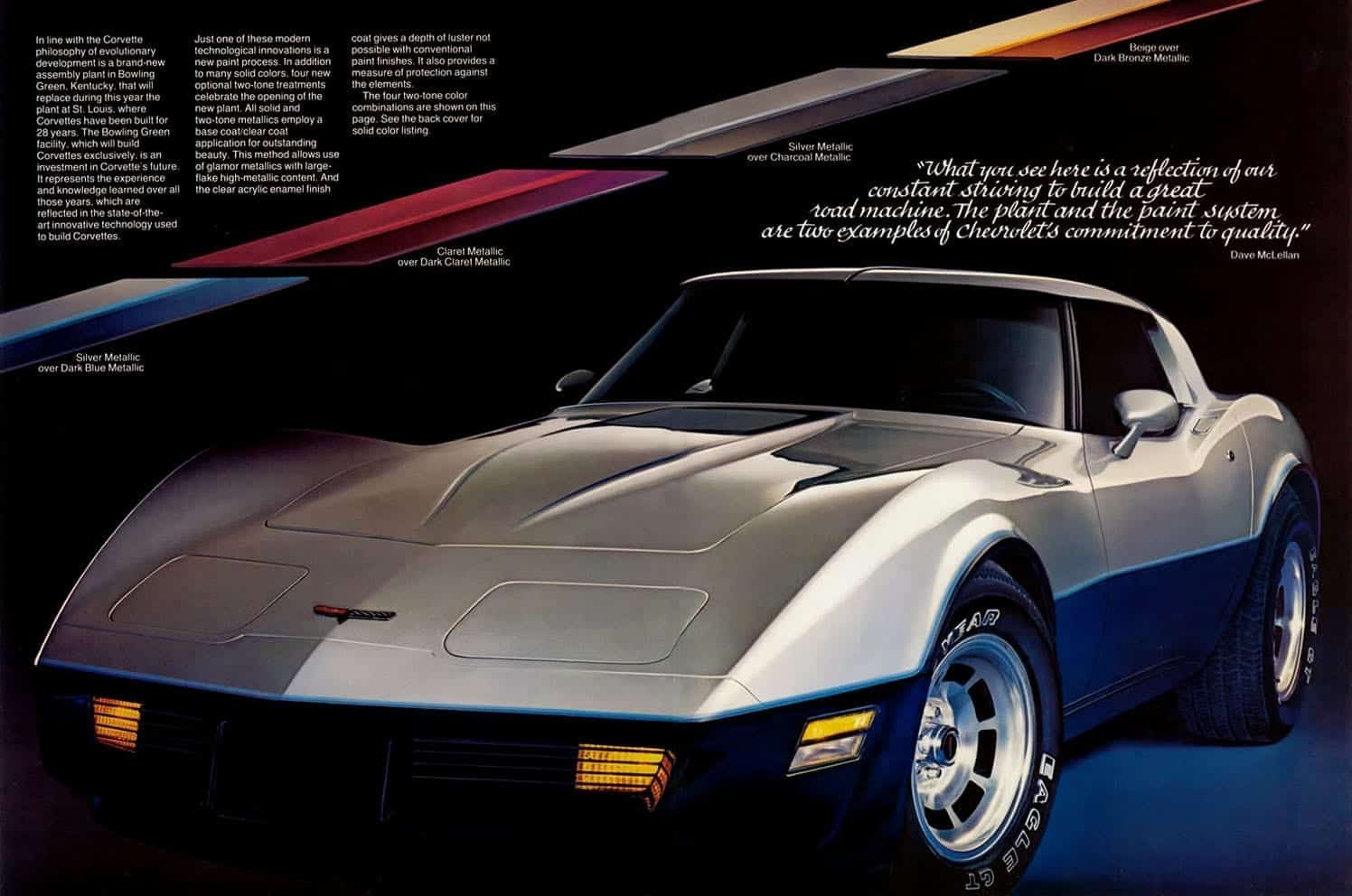 1981 Chevrolet Corvette Two Tone Paint Option