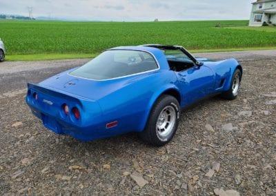 1981 Bright Blue Corvette 4spd For Sale
