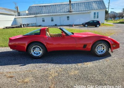 1981 Real Red Corvette Camel Interior Manual For Sale