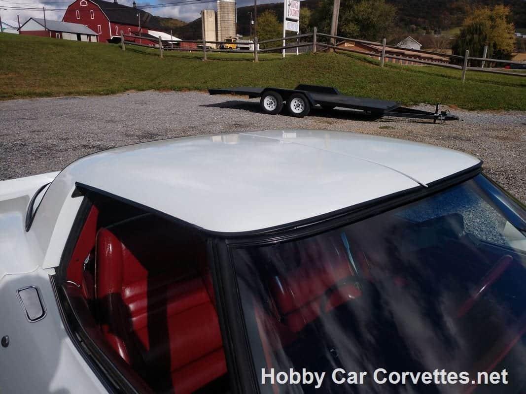 1981 White Corvette Dark Red Int 4 Speed Manual T-Top