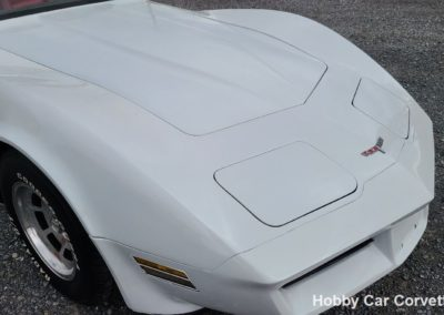 1981 White Corvette Red Leather Interior For Sale