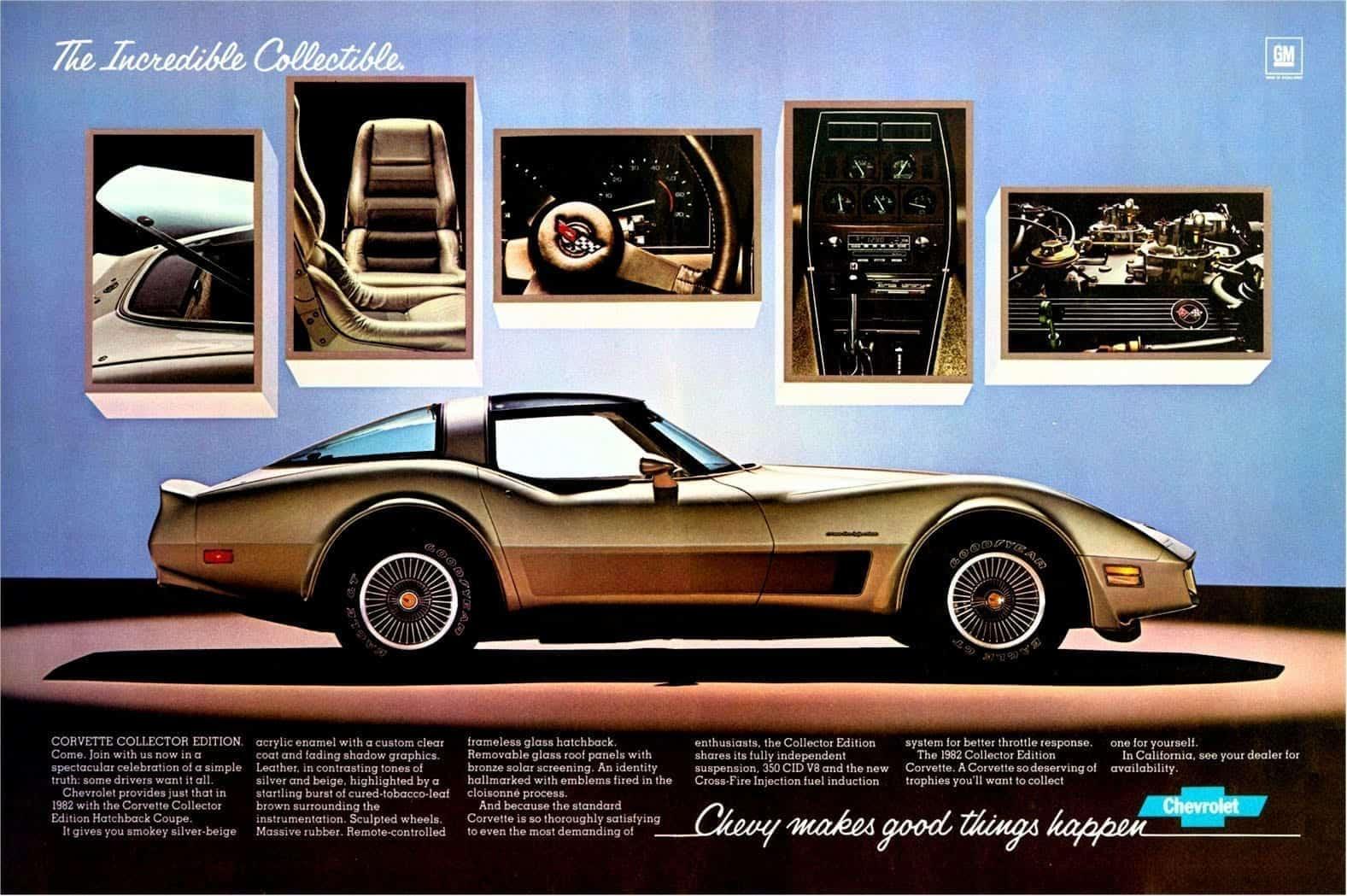 1982 corvette the incredible collectible model
