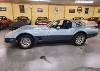 1982 Silver Blue Corvette T Top