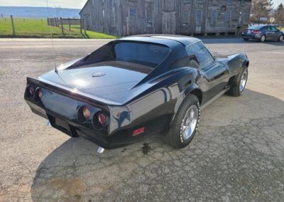 1976 Black Corvette Hot Rod 4spd For Sale