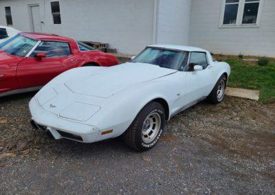 1979 White Corvette Red Interior T Top