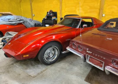 1975 Candy Apple Red Corvette 4 speed T Top For Sale
