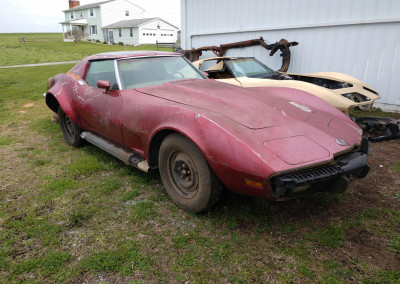 1973 Burgundy L82 4spd Corvette For Sale